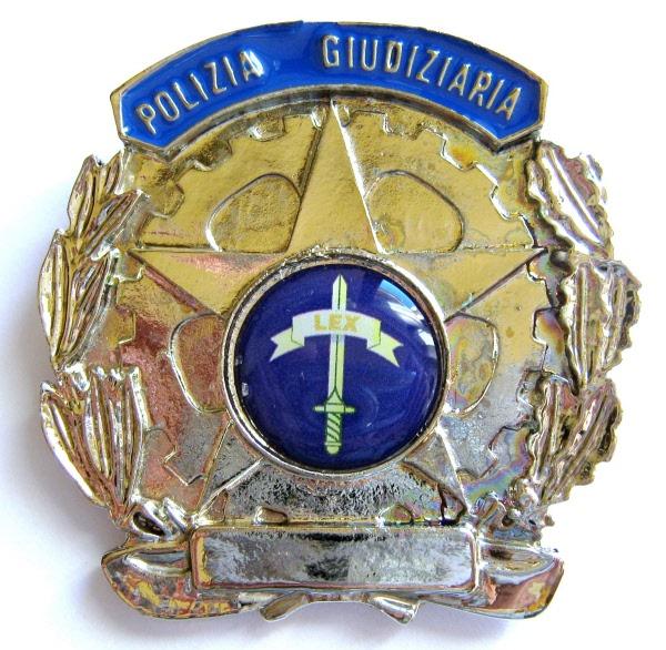 placca polizia giudiziaria argento t00758pga
