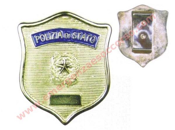 Foto Stemma Polizia di Stato Placca Polizia di Stato