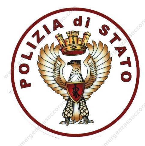 Foto Stemma Polizia di Stato Vetrofania Polizia di Stato